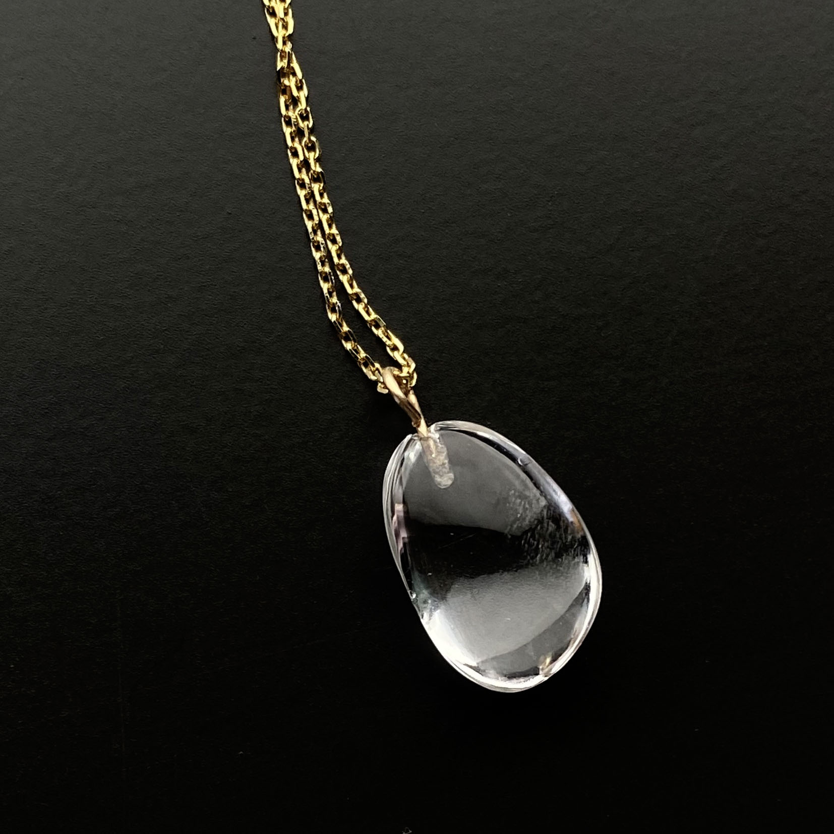 clear drop necklace 소재 선택가능
